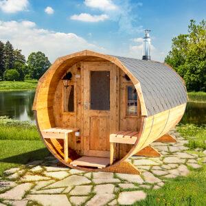 bilde 3 4m badstutoenne for 4 pers med omkledningsrom og utvendige sitteplasser