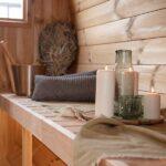foto 7 4m badstutoenne for 4 pers med omkledningsrom og utvendige sitteplasser