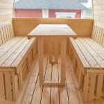 foto 7 5m badstutoenne for 6 pers med omkledningsrom og mulighet for stor seng
