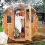foto 3 4m badstutoenne for 8 pers med omkledningsrom