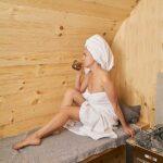 foto 7 2.4m badstutoenne for 4 pers med utvendige sitteplasser
