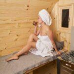 foto 9 3m badstutoenne for 4 pers med omkledningsrom